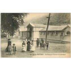 carte postale ancienne 09 AX-LES-THERMES. Etablissement Thermal de Couloubret 1923