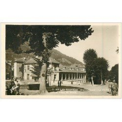 carte postale ancienne 09 AX-LES-THERMES. Le Modèle Place du Breilh. carte photo
