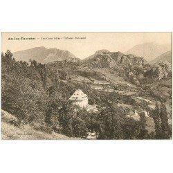 carte postale ancienne 09 AX-LES-THERMES. Les Cascatelles Château Delcassé