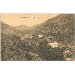 carte postale ancienne 09 AX-LES-THERMES. Perles et Castelet