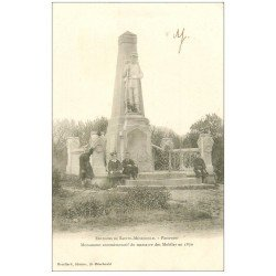 carte postale ancienne 51 PASSAVANT. Monument Massacre des Mobiles de 1870