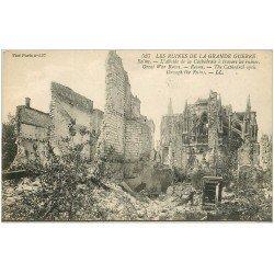 carte postale ancienne 51 REIMS. Abside Cathédrale et Coffre Fort éventré