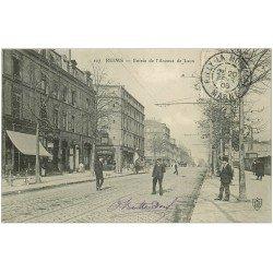 carte postale ancienne 51 REIMS. Avenue de Laon 1906