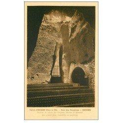 carte postale ancienne 51 REIMS. Champagne Caves Ruinart rue des Crayères. Nicolas bouteilles Pupitres