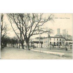 carte postale ancienne 09 FOIX. Allée de Villotte 1917