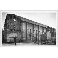 carte postale ancienne 09 FOIX. Eglise Saint-Volusien. Carte Photo émaillographie