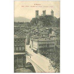 carte postale ancienne 09 FOIX. Entrée de la Ville 1913