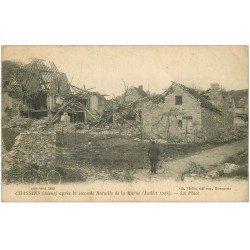 carte postale ancienne 02 CHASSIN. Seconde bataille de la Marne. Cycliste