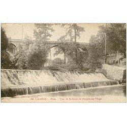 carte postale ancienne 09 FOIX. Le Pont de Saint-Girons et Chaussée sur l'Arget