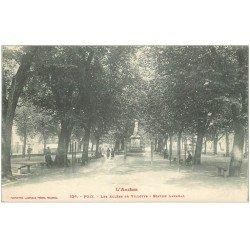 carte postale ancienne 09 FOIX. Statue Lakanal les Allées de Villotte