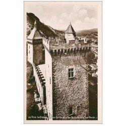 carte postale ancienne 09 FOIX. Tour Carrée et Ronde du Château. Photo émaillographie
