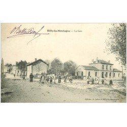 carte postale ancienne 51 RILLY-LA-MONTAGNE. La Gare 1904