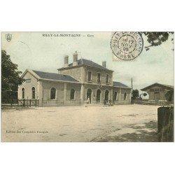 carte postale ancienne 51 RILLY-LA-MONTAGNE. La Gare 1905