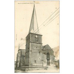 carte postale ancienne 51 RILLY-LA-MONTAGNE. L'Eglise 1917