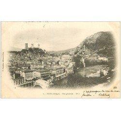 carte postale ancienne 09 FOIX. Vue générale 1903