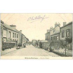 carte postale ancienne 51 RILLY-LA-MONTAGNE. Rue Chigny Café Restaurant Chauvet 1904