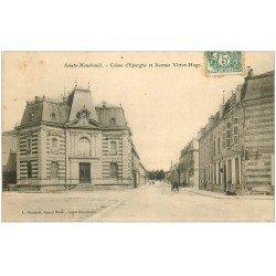 carte postale ancienne 51 SAINTE-MENEHOULD. Caisse Epargne Avenue Victor-Hugo 1907