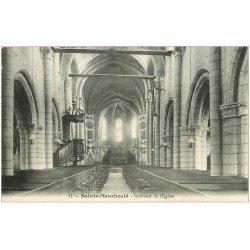 carte postale ancienne 51 SAINTE-MENEHOULD. Eglise intérieur