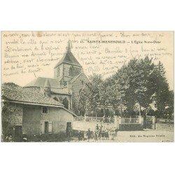 carte postale ancienne 51 SAINTE-MENEHOULD. Eglise Notre-Dame 1916