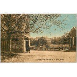 carte postale ancienne 51 SAINT-HILAIRE-AU-TEMPLE. Rue de la Gare 1930