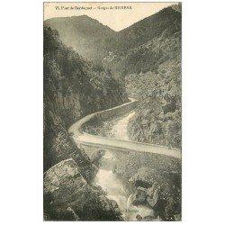carte postale ancienne 09 Gorges de MERENS. Pont de Berduquet
