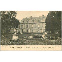 carte postale ancienne 51 SAINT-THIERRY. Château