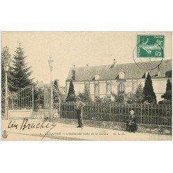 carte postale ancienne 51 SEZANNE. Jardin Hôtel de Ville 1908 adressée à Bagnolet