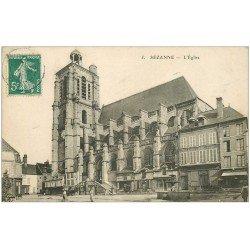 carte postale ancienne 51 SEZANNE. L'Eglise vers 1910