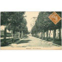 carte postale ancienne 51 SEZANNE. Mail de Marseille 1928
