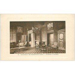 carte postale ancienne 02 CHATEAU DE MARCHAIS. Chambre à Coucher