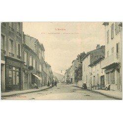 carte postale ancienne 09 LALEVANET. Avenue de Foix 1914 Pharmacie
