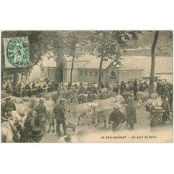 carte postale ancienne 09 LE COULOUBRET. Un Jour de Foire aux Bestiaux 1910