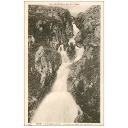 carte postale ancienne 09 L'HOSPITALET. Cascade du Saut du Taureau