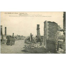 carte postale ancienne 51 VITRY-EN-PERTHOIS. Attelage Route du Buisson 1915