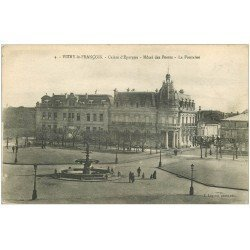carte postale ancienne 51 VITRY-LE-FRANCOIS. Caisse Epargne et Hôtel des Postes 1919