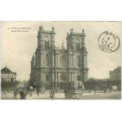 carte postale ancienne 51 VITRY-LE-FRANCOIS. Eglise Notre-Dame vers 1919. Timbre manquant
