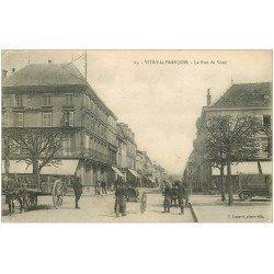carte postale ancienne 51 VITRY-LE-FRANCOIS. La Rue de Vaux 1917