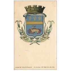 carte postale ancienne 51 VITRY-LE-FRANCOIS. Les Armes de la Ville. Collection Héraldique vers 1900