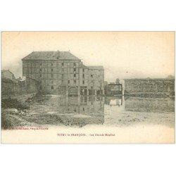 carte postale ancienne 51 VITRY-LE-FRANCOIS. Les Grands Moulins 1922