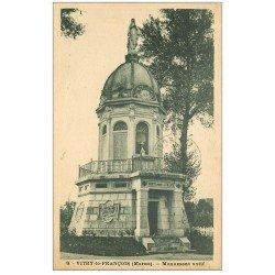 carte postale ancienne 51 VITRY-LE-FRANCOIS. Monument votif 1939
