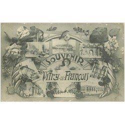 carte postale ancienne 51 VITRY-LE-FRANCOIS. Multivues
