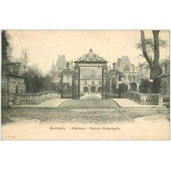 carte postale ancienne 02 CHATEAU DE MARCHAIS. Entrée Principale 1931