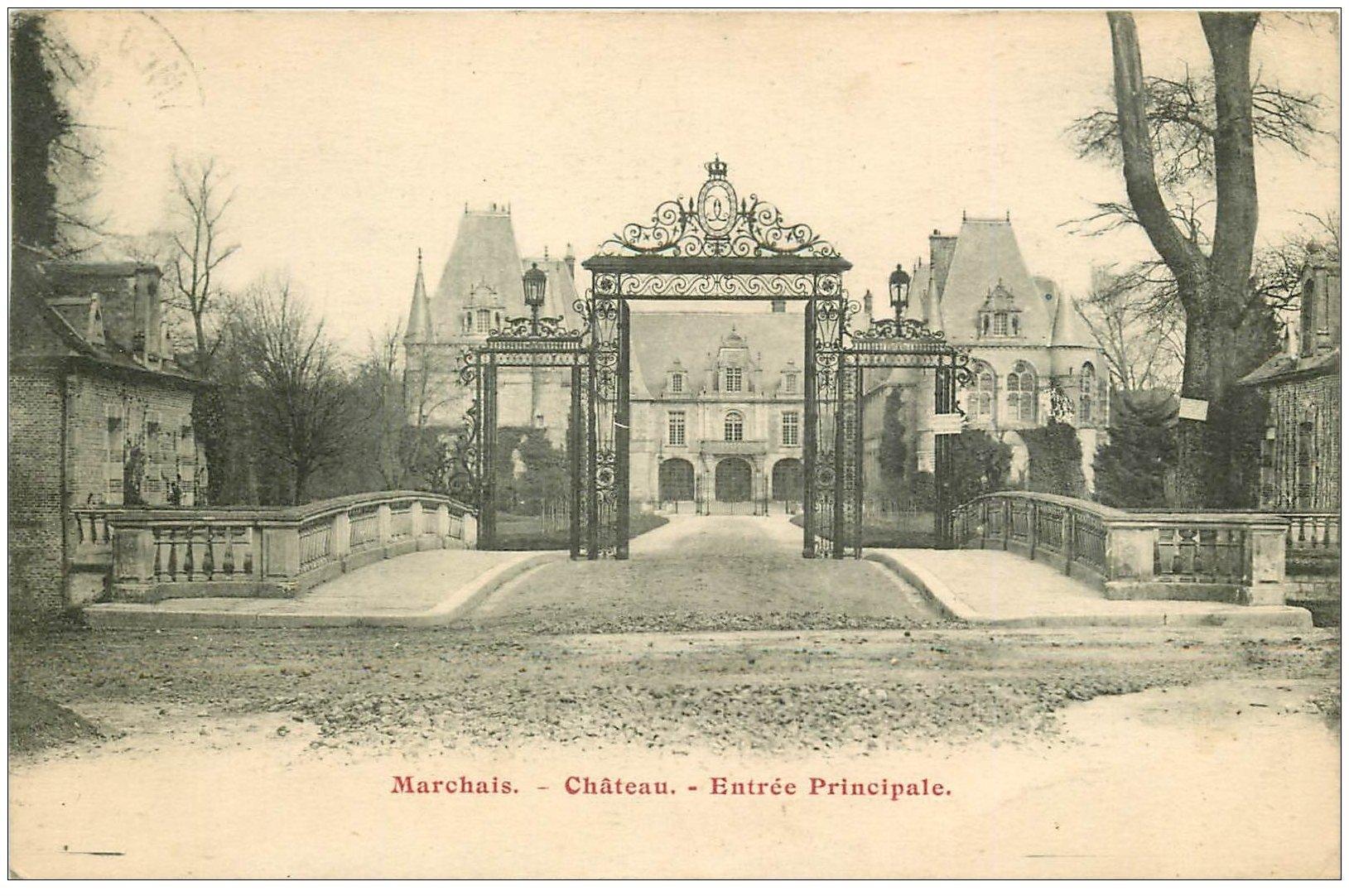 02 chateau de marchais entr e principale 1931 for Marchais 02