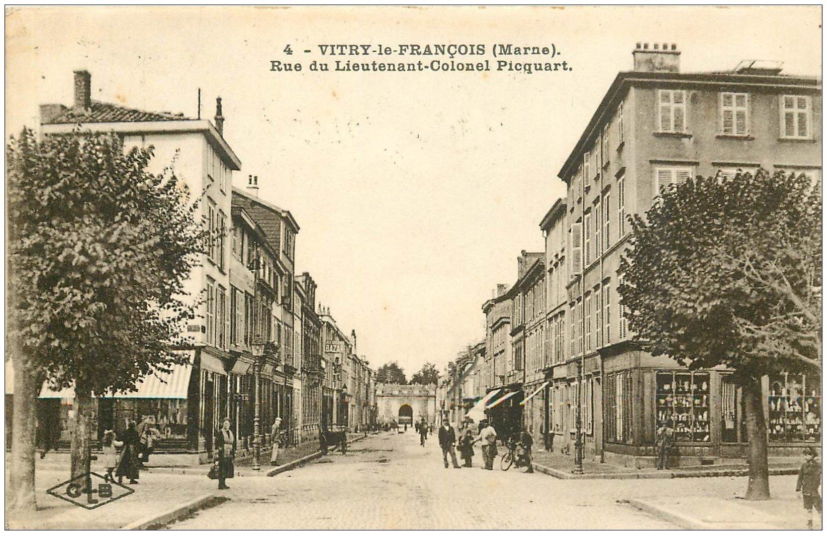 51 vitry le francois rue du lieutenant colonel picquart 1927. Black Bedroom Furniture Sets. Home Design Ideas