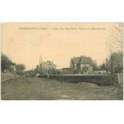 carte postale ancienne 42 ANDREZIEUX. Villa des Gravières Route de Montbrison