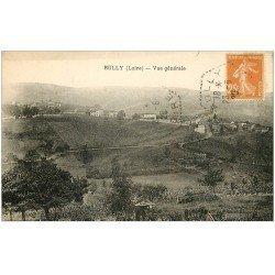 carte postale ancienne 42 BULLY. Vue générale 1929