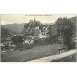 carte postale ancienne 42 CORNILLON animation sur la Route