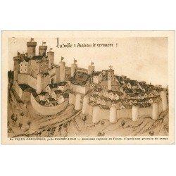 carte postale ancienne 42 LE VIEUX CERVIERES 1948
