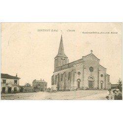 carte postale ancienne 42 LENTIGNY. L'Eglise vers 1905