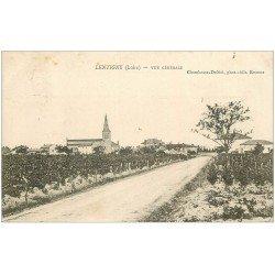 carte postale ancienne 42 LENTIGNY. Vue générale et Vignes vers 1905